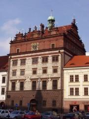 Ochrana proti holubům radnice Plzeň